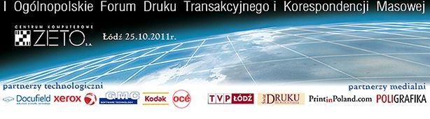 Ogólnopolskie Forum Druku Transakcyjnego i Korespondencji Masowej
